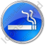 Smoking Circle Blue Icon