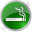 Smoking Circle Green Icon