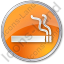 Smoking Circle Orange Icon