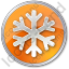 Snow Circle Orange Icon, PNG/ICO, 64x64