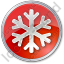 Snow Circle Red Icon