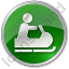 Snowmobiling Circle Green Icon, PNG/ICO, 64x64