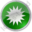 Sunny Circle Green Icon