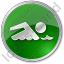 Swimming Circle Green Icon, PNG/ICO, 64x64