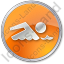 Swimming Circle Orange Icon