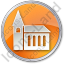 Temple Circle Orange Icon