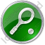 Tennis Racket Circle Green Icon