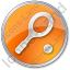 Tennis Racket Circle Orange Icon