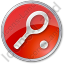 Tennis Racket Circle Red Icon, PNG/ICO, 64x64
