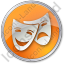 Theater Circle Orange Icon