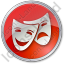 Theater Circle Red Icon