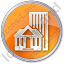 Town Circle Orange Icon, PNG/ICO, 64x64