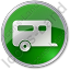 Trailer Circle Green Icon, PNG/ICO, 64x64