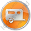 Trailer Circle Orange Icon