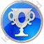 Trophy Circle Blue Icon