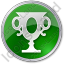 Trophy Circle Green Icon