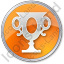 Trophy Circle Orange Icon