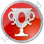 Trophy Circle Red Icon
