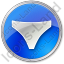 Underwear Circle Blue Icon, PNG/ICO, 64x64