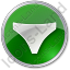 Underwear Circle Green Icon