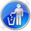 Waste Container Circle Blue Icon