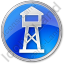 Watchtower Circle Blue Icon