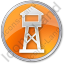 Watchtower Circle Orange Icon