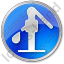 Water Pump Circle Blue Icon