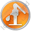 Water Pump Circle Orange Icon
