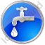 Water Tap Circle Blue Icon