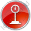 Weight Circle Red Icon, PNG/ICO, 64x64