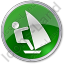 Windsurfing Circle Green Icon