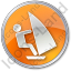 Windsurfing Circle Orange Icon
