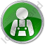 Worker Circle Green Icon, PNG/ICO, 64x64