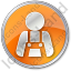 Worker Circle Orange Icon