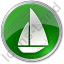 Yachting Circle Green Icon