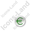 Overlay Currency Euro Circle Green Icon