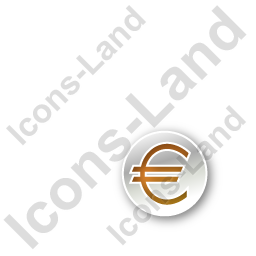 Overlay Currency Euro Circle Orange Icon