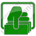 ATM Money Out Plain Green Icon, PNG/ICO, 128x128