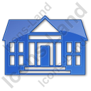Administration Plain Blue Icon