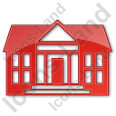 Administration Plain Red Icon, PNG/ICO, 128x128
