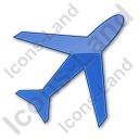 Airport Plain Blue Icon, PNG/ICO, 128x128