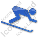 AlpineSkiing Plain Blue Icon