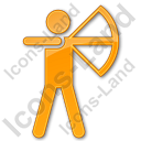 Archery Plain Orange Icon, PNG/ICO, 128x128