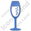 Bar Champagne Plain Blue Icon, PNG/ICO, 128x128