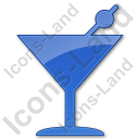 Bar Martini Plain Blue Icon