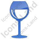 Bar Wine Plain Blue Icon, PNG/ICO, 128x128