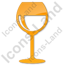 Bar Wine Plain Orange Icon, PNG/ICO, 128x128