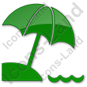 Beach Plain Green Icon