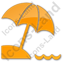 Beach Plain Orange Icon
